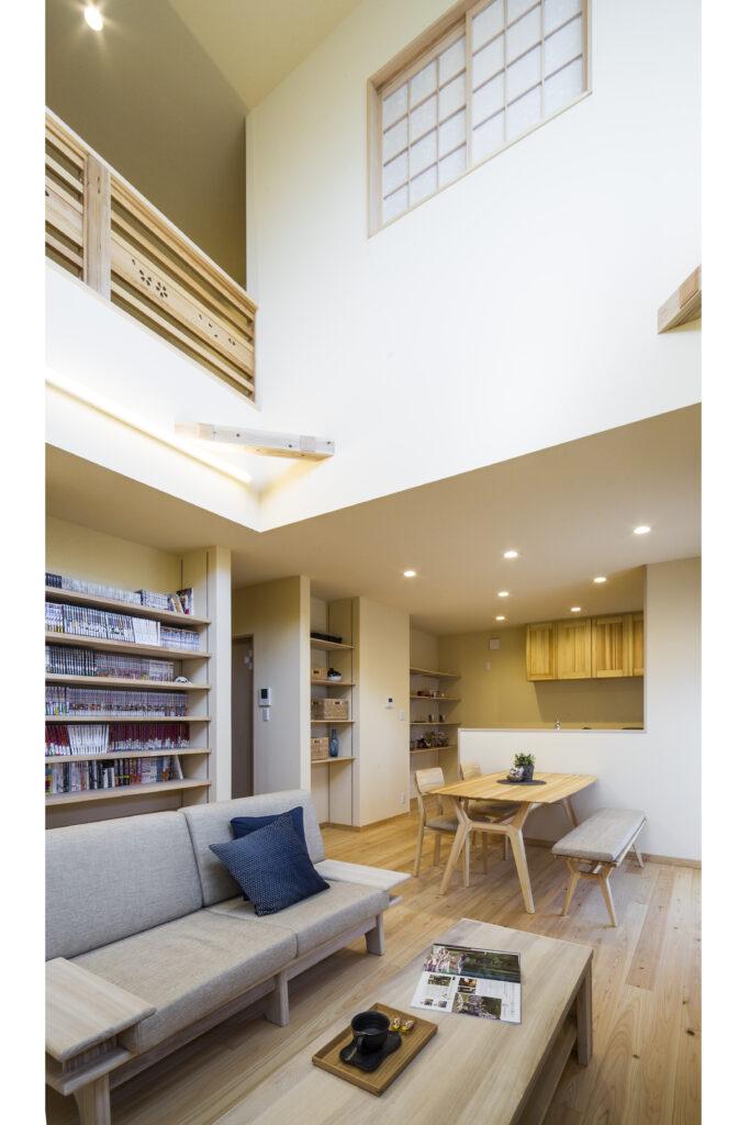 500冊を超えるマンガ専用収納のある家